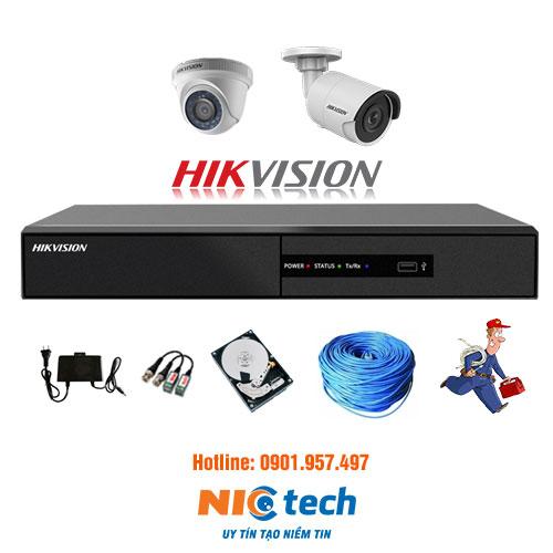 bộ 2 camera hik-vision
